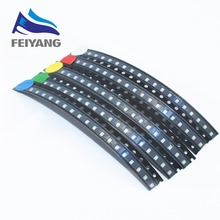 100pcs/lot 5 Colors SMD 0805 Led Ultra Bright Red/Green/Blue/Yellow/White Water Clear LED Light Diode