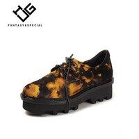 МГС кроссовки из плотной ткани на платформе женские босоножки 2018 осень женские без каблука обувь на платформе Leopard Ретро замшевые tenis feminino