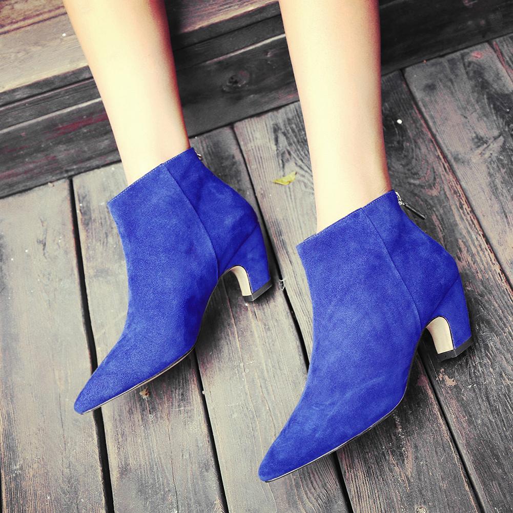 bbeb5b327b9 Cuero Dama Se Botas Al Moda Negro Mayor Punta Por Lapolaka Gamuza gris  Chico Venta azul Mujer De Oficina ou Fen Zapatos Sexy Zz1qx0w