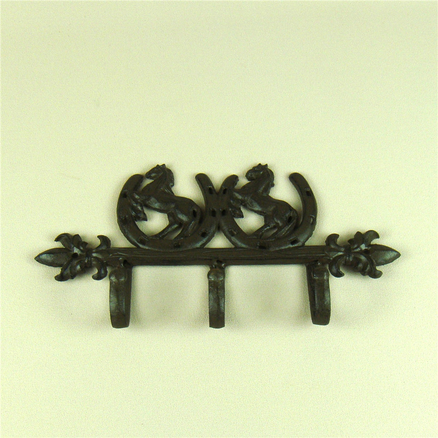 Innovative Cast Iron Horse Shoe Wall Hook Decor Metal Pony Organizer ...
