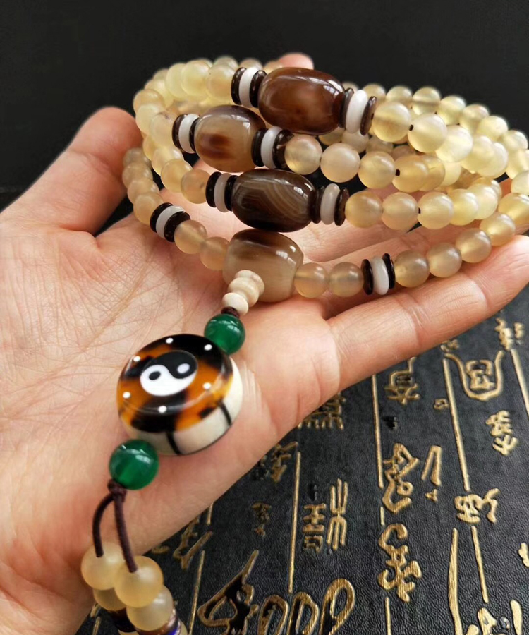 Tibetan Mala Sheep Horn 108 Beads Buddhist Prayer 108 Rosary Beads Designer Blessed Tibetan 108 Beads Mala bro904 tibetan 108 beads kingkong bodhi mala 10 11mm fine prayer beads rosary low moq