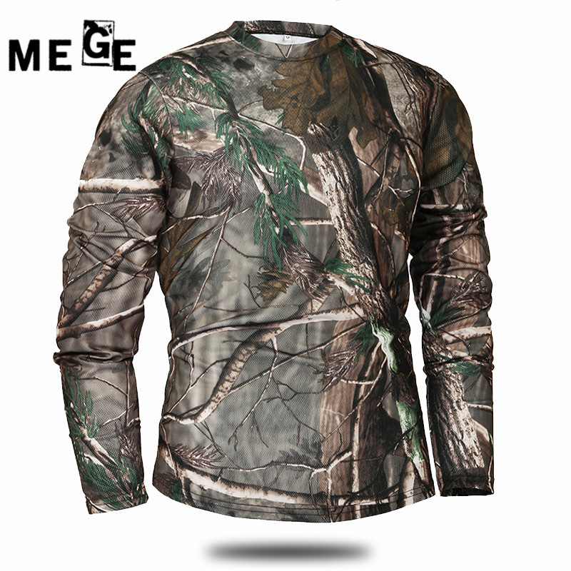 MEGE Outdoor Sports Camping Hiking Tactical Long Sleeve T-shirt, Quick-drying, Breathable, Combat Running T-Shirt Ciclismo esdy 8864 men s outdoor sports quick drying round collar t shirt army green size xxl