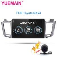 YUEMAIN автомобиля Радио Мультимедийный проигрыватель для Toyota RAV4 RAV 4 2013 2015 2Din Android 8,1 автомобильное радио с GPS навигационная лента Регистраторы