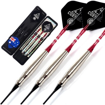 Gift !!! CUESOUL 16 Grams Soft Tip Brass Barrels Darts Set with 2 different color Aluminum Dart Shafts cuesoul 95% tungsten steel tip darts with 6pcs aluminum shafts 30 grams dart barrels