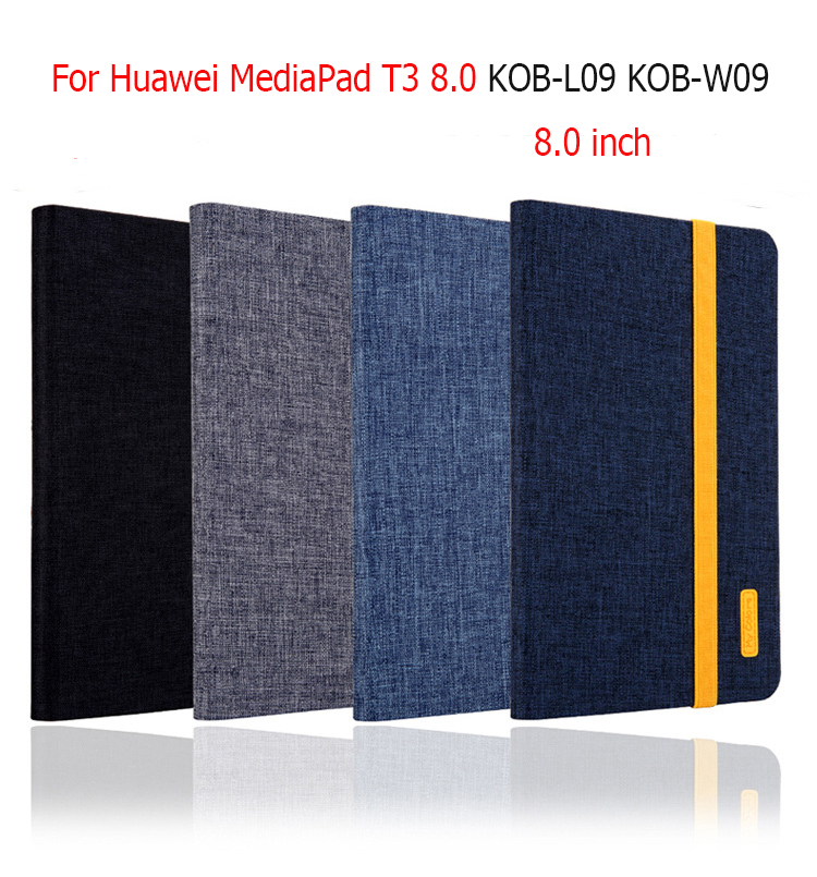 New Silicon Cloth PU Leather Smart case For Huawei MediaPad T3 8.0 KOB-L09 KOB-W09 8.0 inchTablet Cover+film+stylue pen fashion case for huawei mediapad t3 8 0 kob w09 kob l09 tablet pc for huawei mediapad t3 case cover