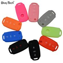 3978d4de94a1 OkeyTech Car Key Case for silicone cover for VW Volkswagen polo passat b5  golf 4 5 6 jetta mk6 tiguan Gol CrossFox Eos Scirocco