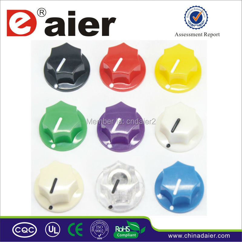 MF-B00 Plastic Fluted 'MXR' Style Colorful Pointer Knob Plastic Knobs Potentiometer