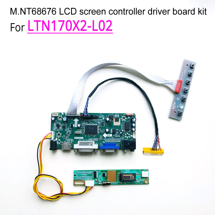 HDMI+DVI+VGA+AUDIO LCD Controller Board for LTN170X2-L02 1440*900 DIY PC Monitor