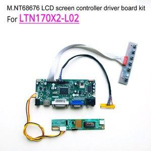 """Image 1 - LTN170X2 L02ためのノートパソコンの液晶モニター60hz 1440*900 17 """"ccfl 30ピンlvds 1 ランプm。NT68676ディスプレイコントローラドライバボードキット"""