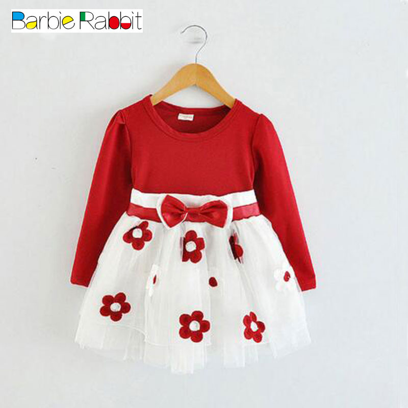 где купить Kids Spring 2016 new baby girls clothes dress tutu dress for toddler girls children birthday party princess dresses long sleeve дешево