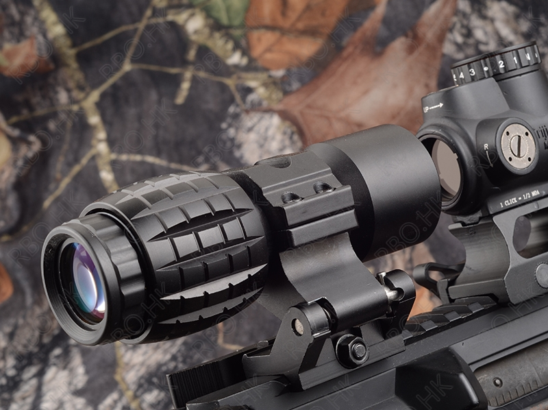 ФОТО Tactical red dot sight scope 3x Magnifier picatinny rail side mount hunting shooting Black M9443