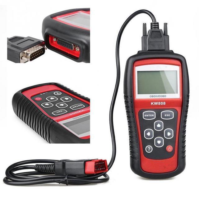 Special Price KW808 Universal Car OBDII EOBD Code Reader Scanner OBD2 Diagnosis Scan Tool OBD 2 II PK Maxiscan MS509 ODB Scaner