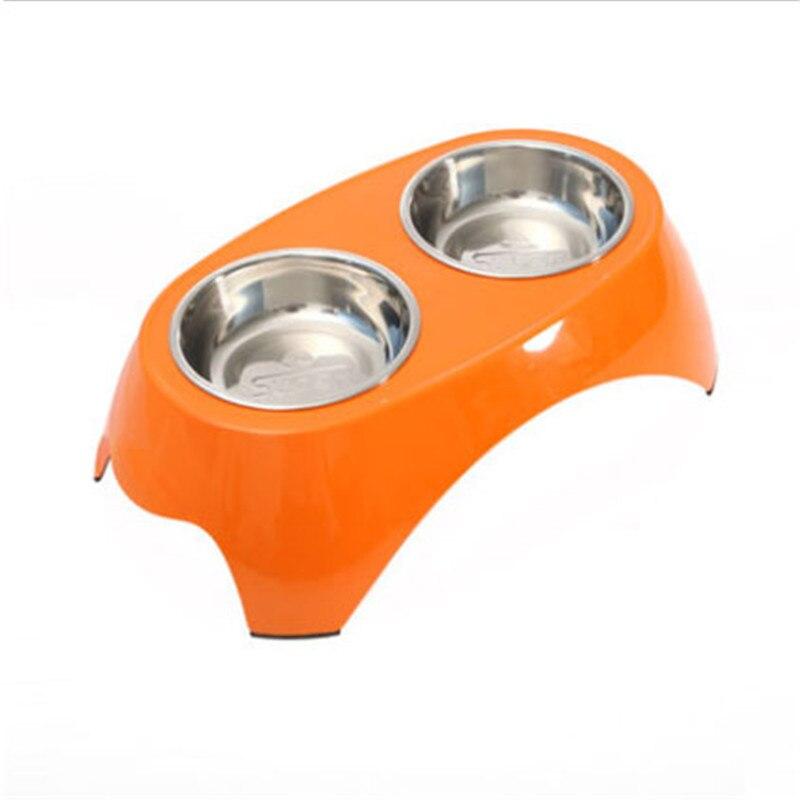 Alimentos Para Perros de agua Doble Tazón Multicolor Bebedouro Párrafo Mascotas