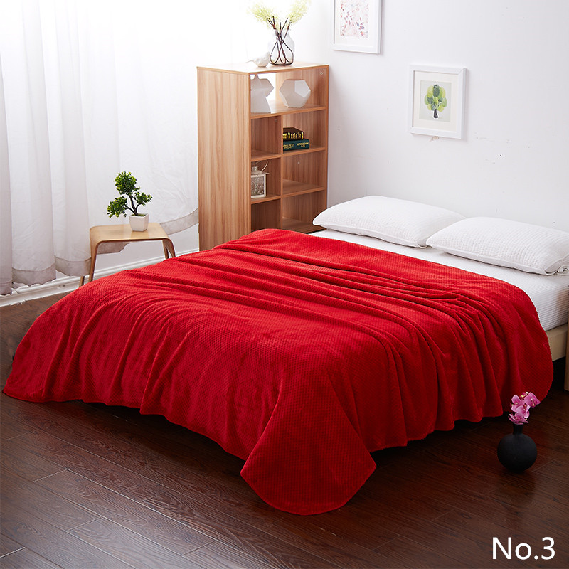 Big Red Color Bedding Design Fleece Sofa <font><b>Blankets</b></font> For Bed Throw 4 Size Machine Washable Soft Air Conditioning With thick <font><b>Blanket</b></font>