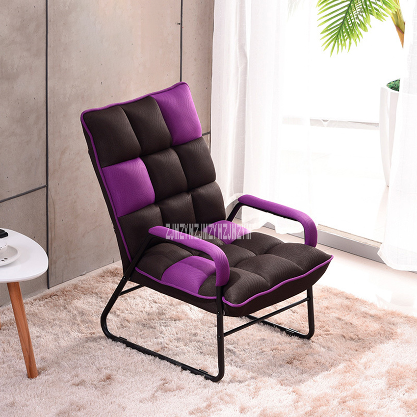 002HPHC Single Sofa Chair Cloth Art Bedroom Reading Relaxing Chair Modern Simple Lazy Sofa Living Room Folding Lifting Chair