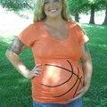 Embarazada de maternidad camisetas de baloncesto cortocircuitos ocasionales para las mujeres embarazadas gravida clothing algodón vestidos yl522