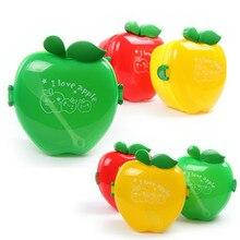 Посуда для кухни PP пластик цвет мультфильм яблоко дети двухэтажные портативный микроволновая печь суши Ланч-бокс снэк-боксы с ложкой