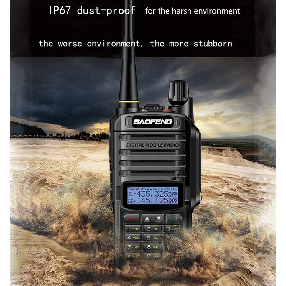 2 pièces Baofeng UV-9R UV 9R UV9R Plus Étanche Baofeng Talkie Walkie Ham VHF UHF Radio Station IP67 Émetteur-Récepteur Boafeng 10 w km