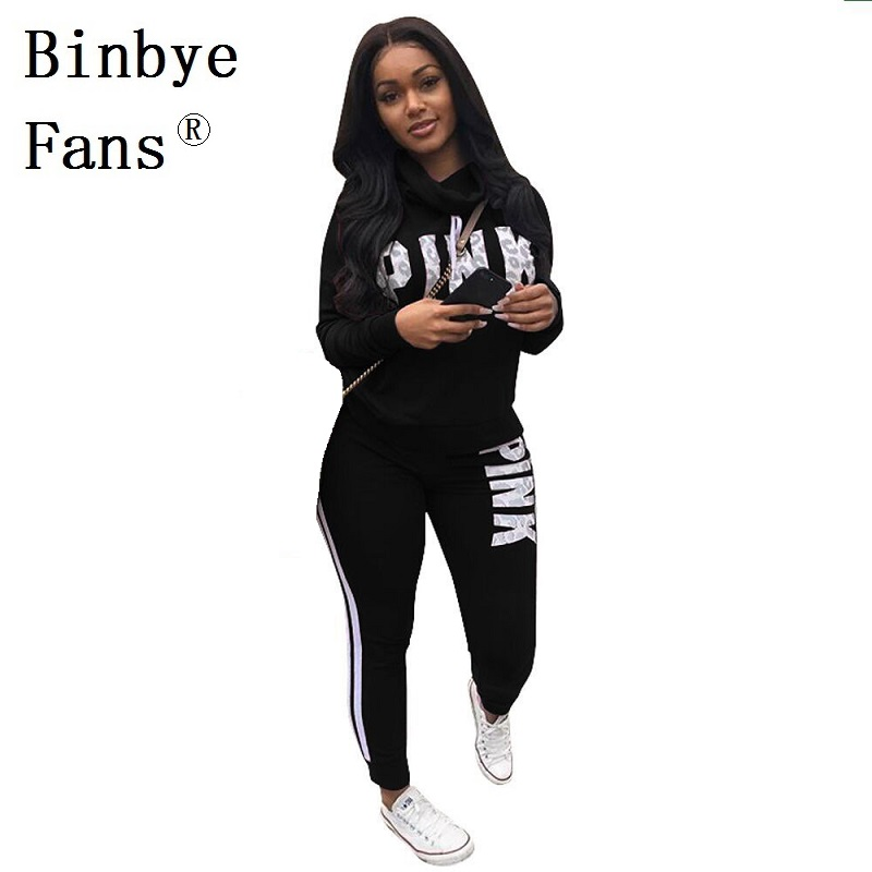 Binbye Fans Plus size pullover top and pants sweatshirt sweat suit 2 piece casaul tracksuit Letter print two piece set CH351