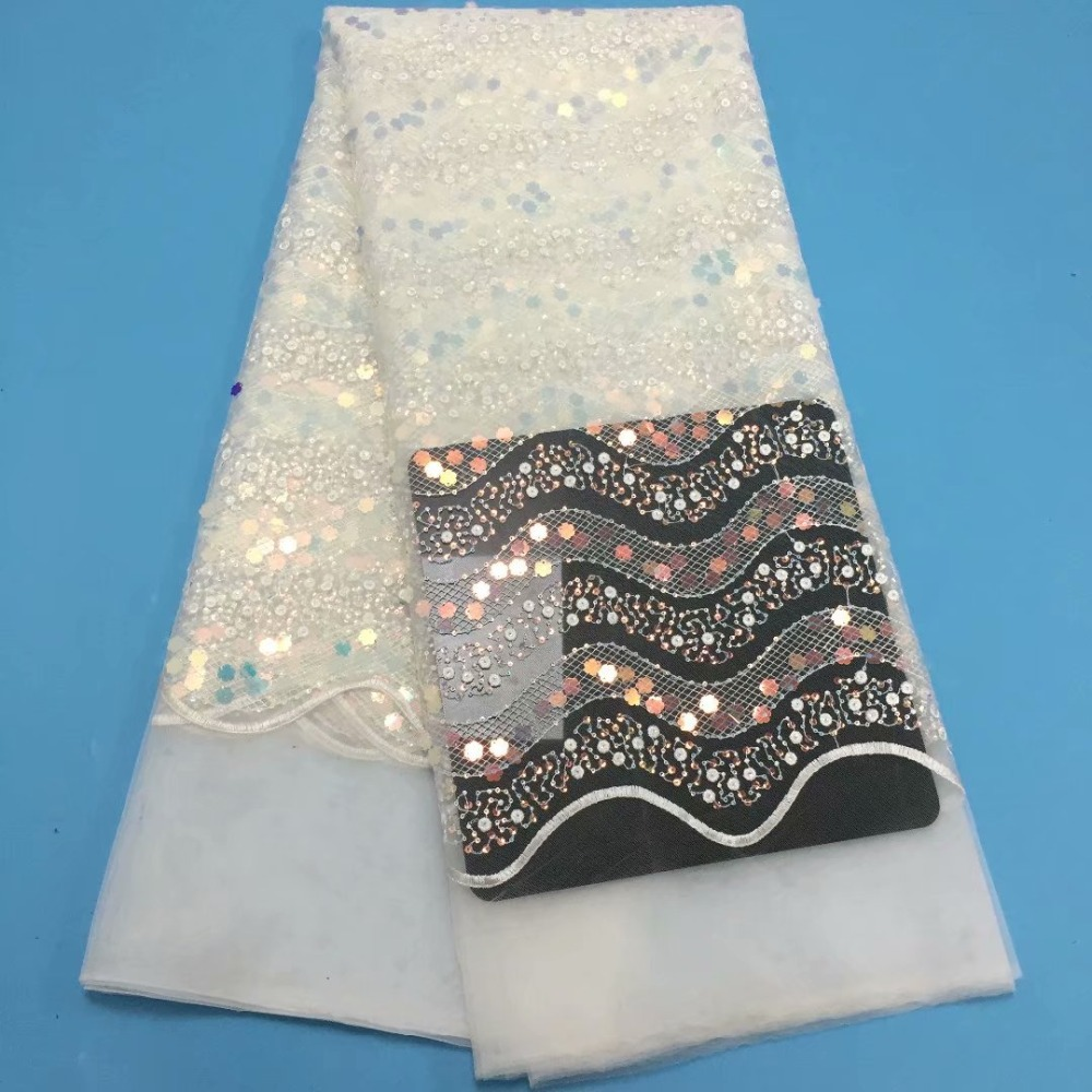 5yards high quality small  sequined lace fabric of lacy fabric with colourful sequins  for  clothing      YDAP0635yards high quality small  sequined lace fabric of lacy fabric with colourful sequins  for  clothing      YDAP063