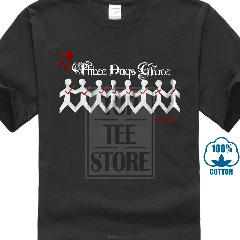 Creative Short Sleeve Tee Times Men'S Three Days Grace Band Gone Forever Black T Shirt Short Crew Neck T Shirts For Men