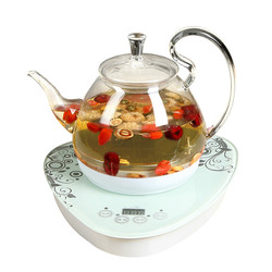 Electric kettle Glass electric boiling tea heater heat preservation pot flower