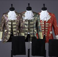 King Prince Renaissance Medieval Men Royal Court Cosplay Costume Coat Uniform