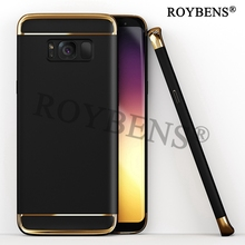 Roybens For Samsung Galaxy S8 Case Samsung S8 Plus Cover Slim Hard PC 3 in 1 Hybrid Electroplating Back Hoesje Shockproof Fundas