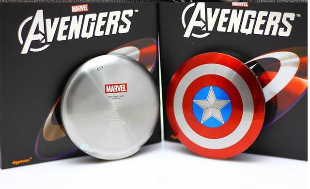 2016 Мстители Капитан Америка Щит 6800 МАЧ Power Bank Зарядное Устройство USB зарядное устройство для iphone6 6 s samsung s5 s6