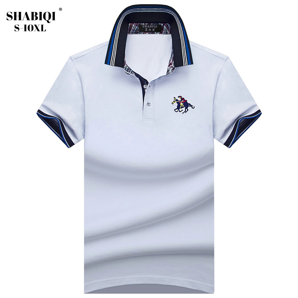 SHABIQI New Men's   Polo   Shirt Brand Men's Cotton & Solid Casual Men's   Polo   Shirt Short Sleeve Plus Size 6XL 7XL 8XL 9XL 10XL