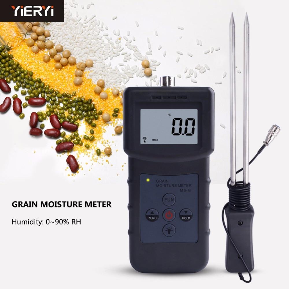 Измеритель влажности зерна yieryi для ячменя, кукурузы, сена, овса, рапса, грубого риса, сорго, сои, пшеничной муки, какао