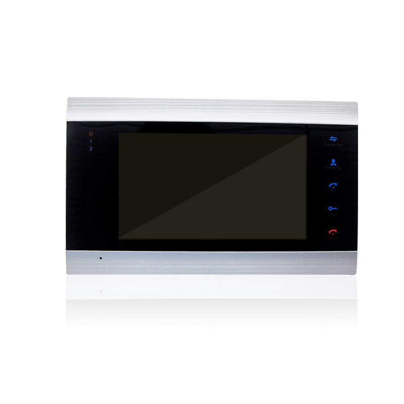 Homefong 7 pouces couleur LCD vidéo porte téléphone interphone système déverrouillage de la porte couleur sonnette caméra 600TVL Vision nocturne - 3