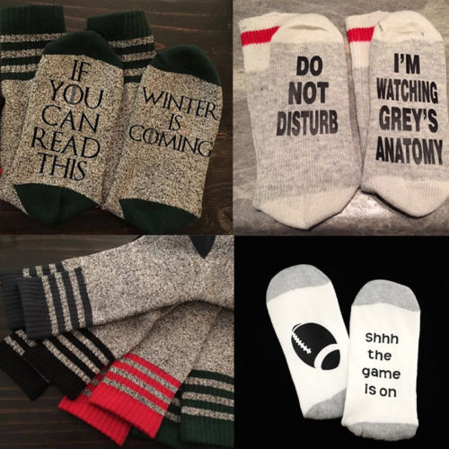 Custom letter socks If You can read this Winter is Coming Socks men women unisex cotton socks autumn spring 2018 new
