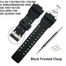119e1017a35f Correa de reloj de goma de silicona de 16mm adaptada para Casio G reemplazo  de golpes negro correa de reloj impermeable Accesori.