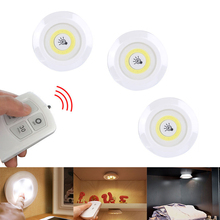 New Dimmable LED Under Cabinet Light with Remote Control Battery Operated LED Closets Lights for Wardrobe Bathroom lighting new dhl 50 pcs rechargeable lithium battery operated multicolors rgb led under table light with remote controller