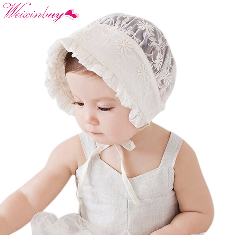 eca261bab1444 Sun Hats Toddlers Baby Girls Boys Lace Flower Hollow Cap Soft Bonnet 0 3Y  Bany Cap 4 Patterns-in Hats   Caps from Mother   Kids on Aliexpress.com