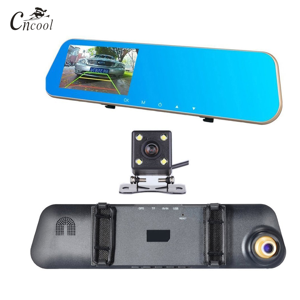 Cncool Dual Lens Car DVR Camera Dash Cam Review Mirror Digital Recorder Auto Navigator Registrator Camcorder Full HD Dashcam