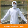 HOT!2014 New summer sun  fishing clothes male long-sleeve breathable anti-uv sun fishing clothing suit M/LXL/XXL/XXXL