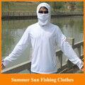 HOT! 2014 Novo sol do verão roupas de pesca masculino longo-luva sol anti-uv respirável roupas de pesca terno M/LXL/XXL/XXXL