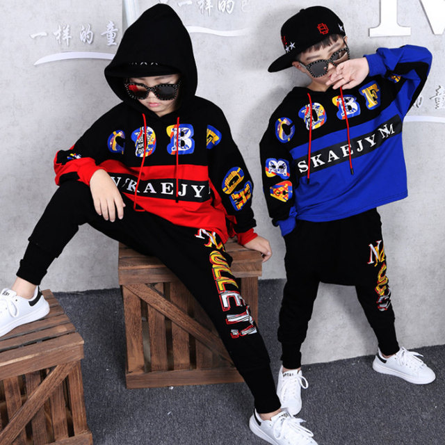 2019 Spring Autumn Kids Clothes Boys 3 4 5 6 7 8 9 10 11 12 14 Years Boys Clothing Set Sports Suit Boys Hooded Jacket And Pants