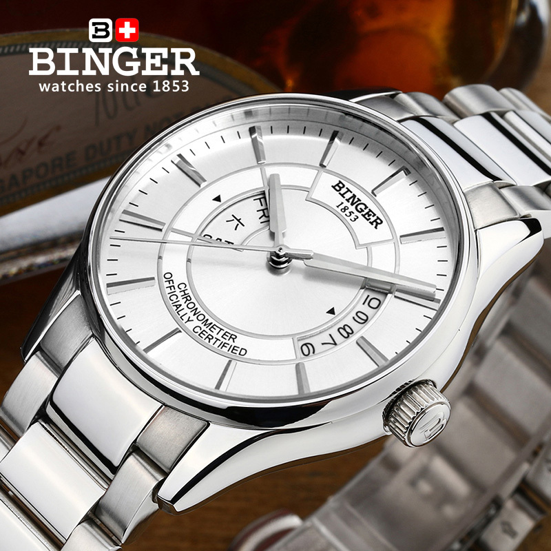 Switzerland mens watch luxury brand clock BINGER luminous MIYOTA movement Mechanical Wristwatches full stainless steel B5007Switzerland mens watch luxury brand clock BINGER luminous MIYOTA movement Mechanical Wristwatches full stainless steel B5007
