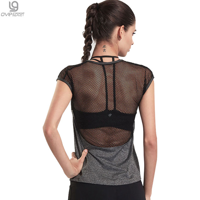 2017 Women Mesh Patchwork T-shirt New Fashion Short Sleeve Casual Perspective Hollow Out Female Vest Tee Sexy T shirt