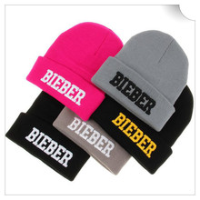 5 color Fashion hat Winter Autumn Acrylic Knitted Solid Cap Justin Bieber Beanie Hats For Men Women Girl Toucas  freesopping