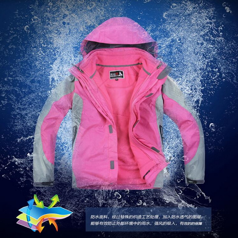 Camping warm fleece lining three in one assault clothing two-piece detachable wear outdoor hiking autumn and winter models