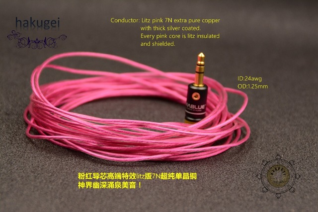 pink litz 7N extra pure occ copper with thick silver plated wire ...
