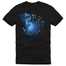 Dr. Doctor Who Men's T Shirt Herren doktor dalek tardis time science fiction Top Tee Summer New Arrival Cotton Fashion T-shirts