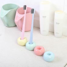 Candy color fashion couple toothbrush base frame personality simple holder seat ceramic tooth