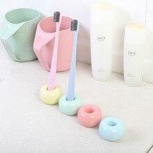 Candy farbe mode paar zahnbürste basis rahmen persönlichkeit einfache zahnbürste halter zahnbürste sitz keramik zahn halter
