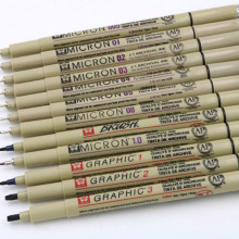 Pigma Micron sakura, графический дизайн, ручка finliner 005 01 02 03 04 05 08, ручка, кисть для рисования, художественные маркеры