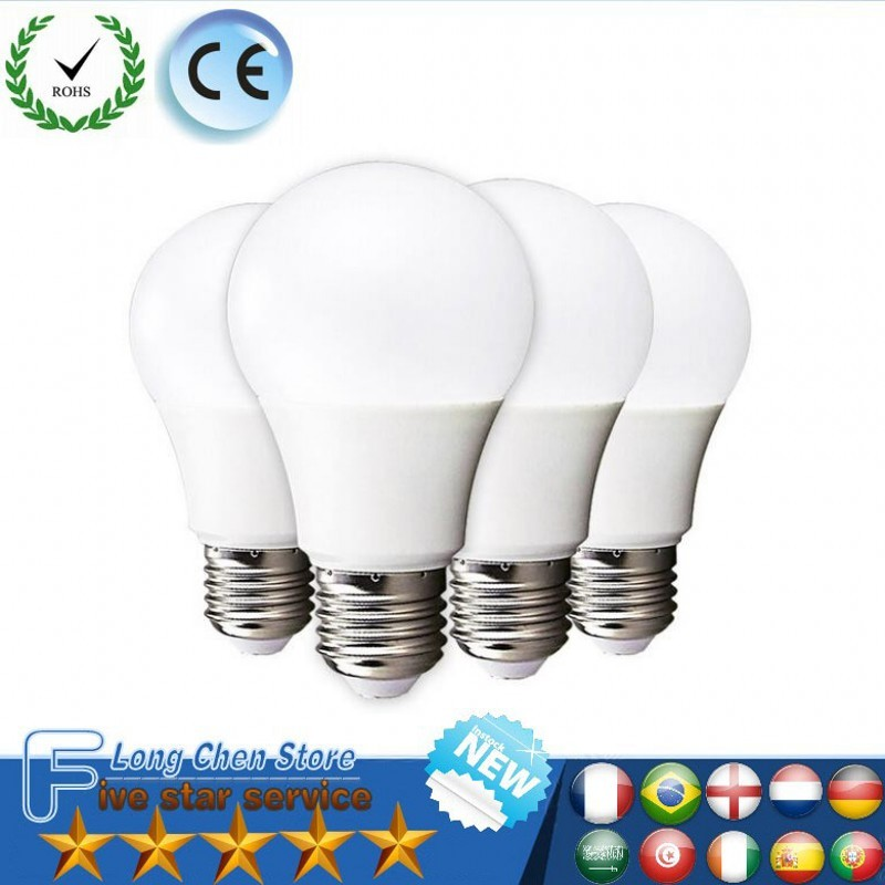 LED Bulb E27 E14 E26 B22 220V Light Bulb Smart IC Real Power 3W 15W 20W RGB High Brightness Lampada LED Bombillas LED Lighting